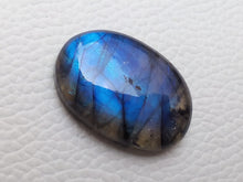 Load image into Gallery viewer, 28x19x7mm,  Blue Labradorite Gemstone Cabochon Oval Shape