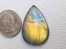 Load image into Gallery viewer, 33x23x5mm,   Labradorite Gemstone Cabochon teardrop Shape
