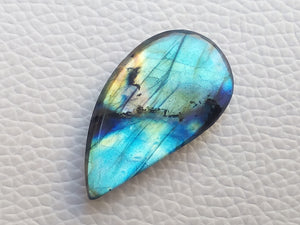 33x18x6mm,   Labradorite Gemstone Cabochon Freeform Shape
