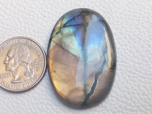 42x29x7mm,   Labradorite Gemstone Cabochon Oval Shape