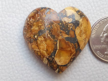 Load image into Gallery viewer, 34x33x11 mm Maligano Jasper Heart Shape