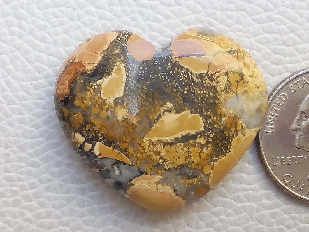 35x31x9 mm Maligano Jasper Heart Shape