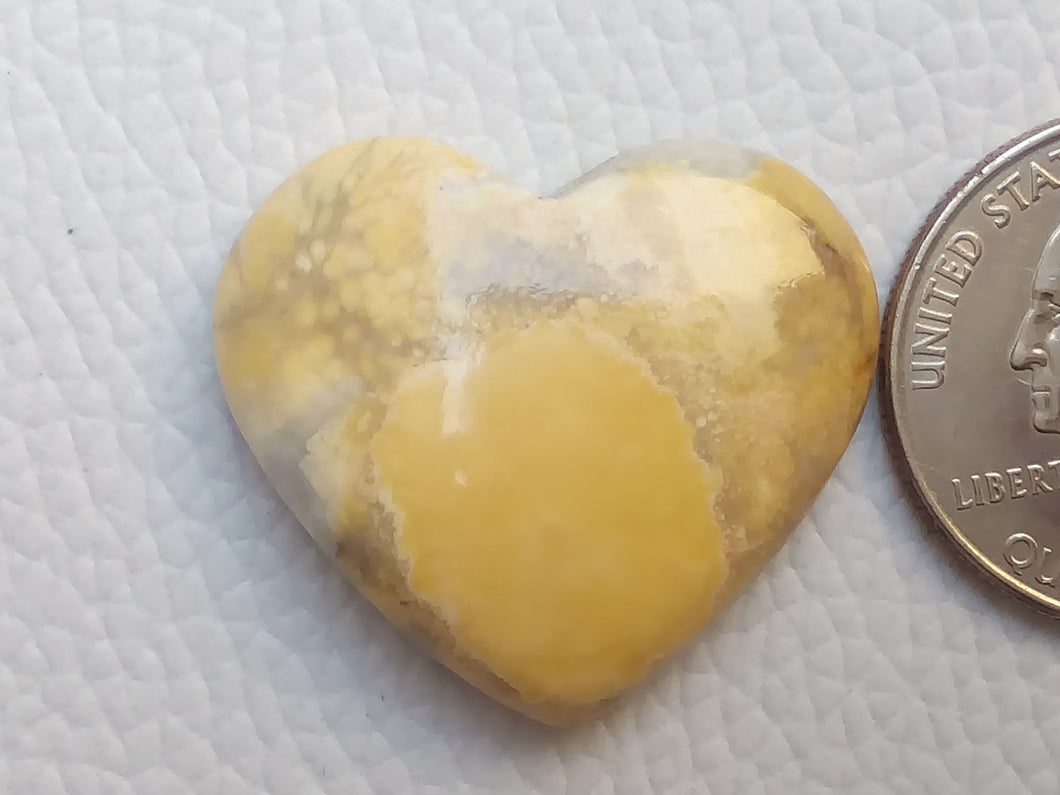 30x26x7 mm Maligano Jasper Heart Shape