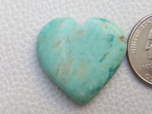 Load image into Gallery viewer, 28x27x6 mm Chrysocolla Heart Shape