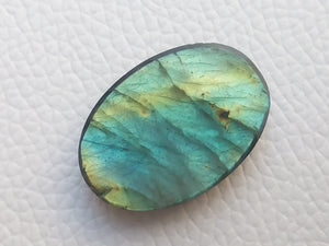 29x20x7mm,   Carved Labradorite Gemstone Cabochon Oval Shape