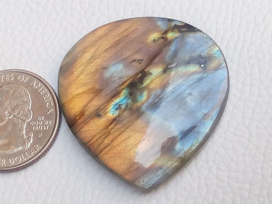 40x38x6mm,   Labradorite Gemstone Cabochon teardrop Shape