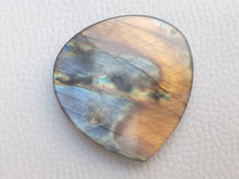 Load image into Gallery viewer, 40x38x6mm,   Labradorite Gemstone Cabochon teardrop Shape