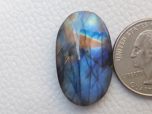 29x17x6mm,   Labradorite Gemstone Cabochon Oval Shape