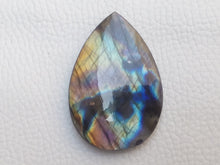 Load image into Gallery viewer, 41x27x6mm,   Labradorite Gemstone Cabochon teardrop Shape