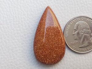 37x20x8 mm Goldstone Teardrop Shape