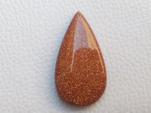 Load image into Gallery viewer, 37x20x8 mm Goldstone Teardrop Shape