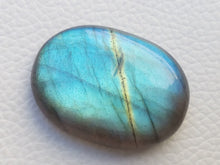 Load image into Gallery viewer, 35x24x8mm, Flashy Blue Labradorite Gemstone Cabochon  Oval Shape