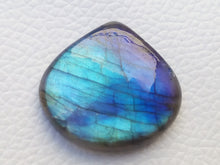 Load image into Gallery viewer, 29x27x6mm,  Blue Labradorite Gemstone Cabochon  Pear Shape