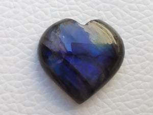 21x20x7mm,  Blue Labradorite Gemstone Cabochon Heart Shape