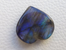 Load image into Gallery viewer, 21x20x7mm,  Blue Labradorite Gemstone Cabochon Heart Shape