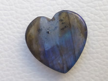 Load image into Gallery viewer, 22x21x6mm,  Blue Labradorite Gemstone Cabochon Heart Shape