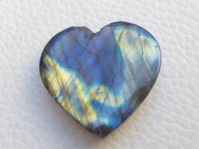 Load image into Gallery viewer, 25x24x8mm,Blue Labradorite Cabochon Gemstone, Heart Shape