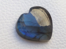 Load image into Gallery viewer, 21x20x6mm,  Blue Labradorite Gemstone Cabochon Heart Shape