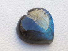 Load image into Gallery viewer, 24x23x7mm, Heart Blue Labradorite Gemstone Cabochon Heart Shape