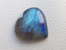Load image into Gallery viewer, 23x22x8mm,  Blue Labradorite Gemstone Cabochon Heart Shape