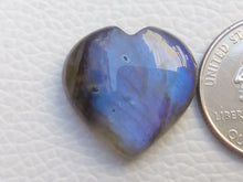 Load image into Gallery viewer, 22x21x7mm,  Blue Labradorite Gemstone Cabochon Heart Shape