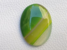 Load image into Gallery viewer, 36x28x6 mm Green Banded Onyx Oval Shape