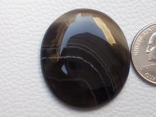 Load image into Gallery viewer, 36x33x6 mm Black Banded Onyx Oval Shape