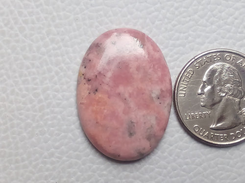 32x23x5mm Natural Pink Rhodonite Oval Shape
