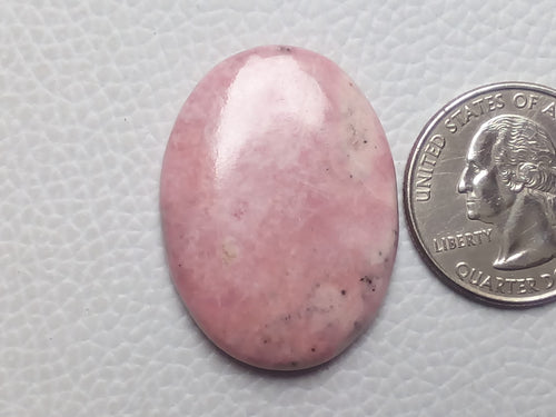 34x25x5mm Natural Pink Rhodonite Oval Shape