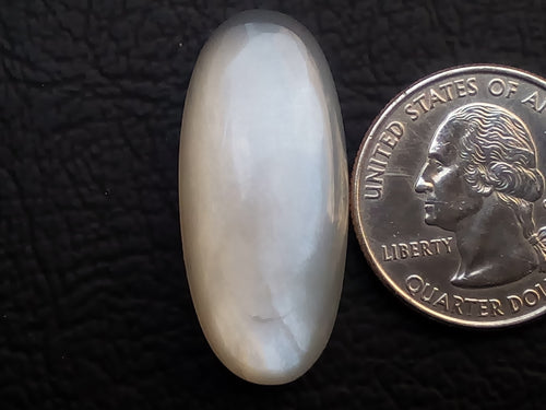 34x15x6mm Natural White Moonstone Oval Shape