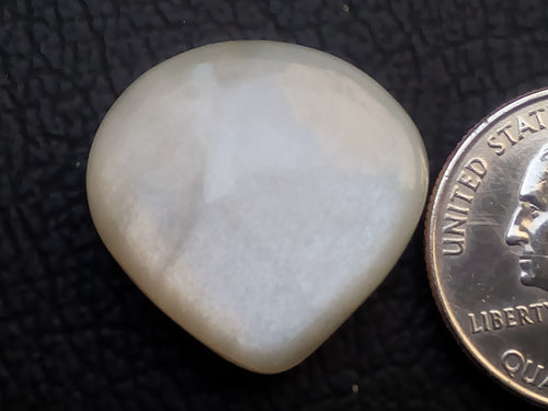 24x23x7mm Natural White Moonstone Teardrop Shape