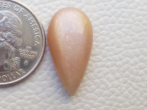 25x13x7mm Natural Peach Moonstone Teardrop Shape