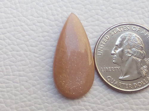 29x14x5mm Natural Peach Moonstone Teardrop Shape