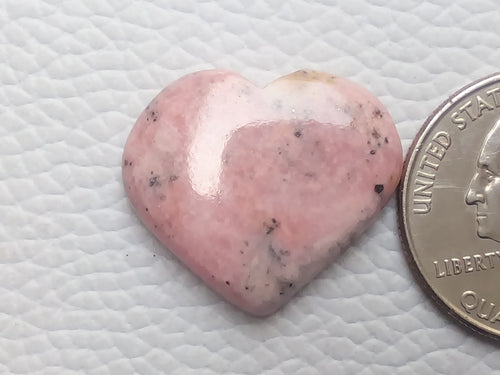 24x21x5mm Natural Rhodonite Gemstone Heart Shape