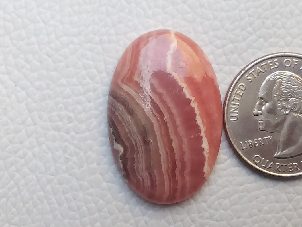 33x22x6 mm Natural Rhodochrosite Oval Shape