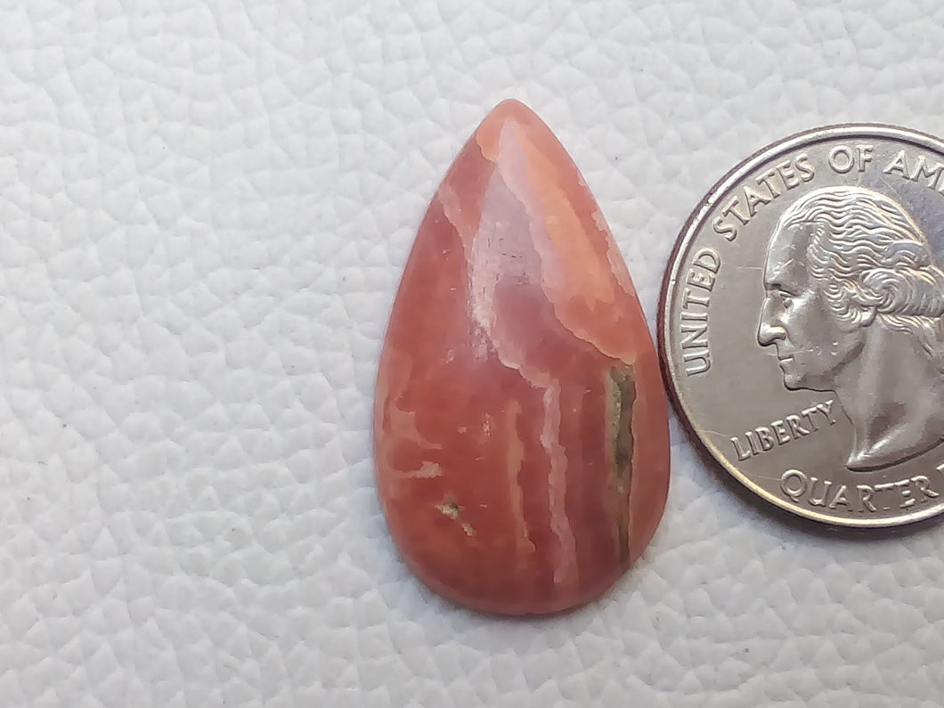 30x17x5 mm Natural Rhodochrosite Teardrop Shape