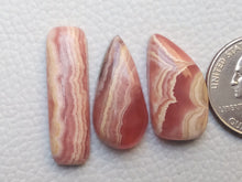 Load image into Gallery viewer, 3 Pcs Natural Rhodochrosite Mix Shape