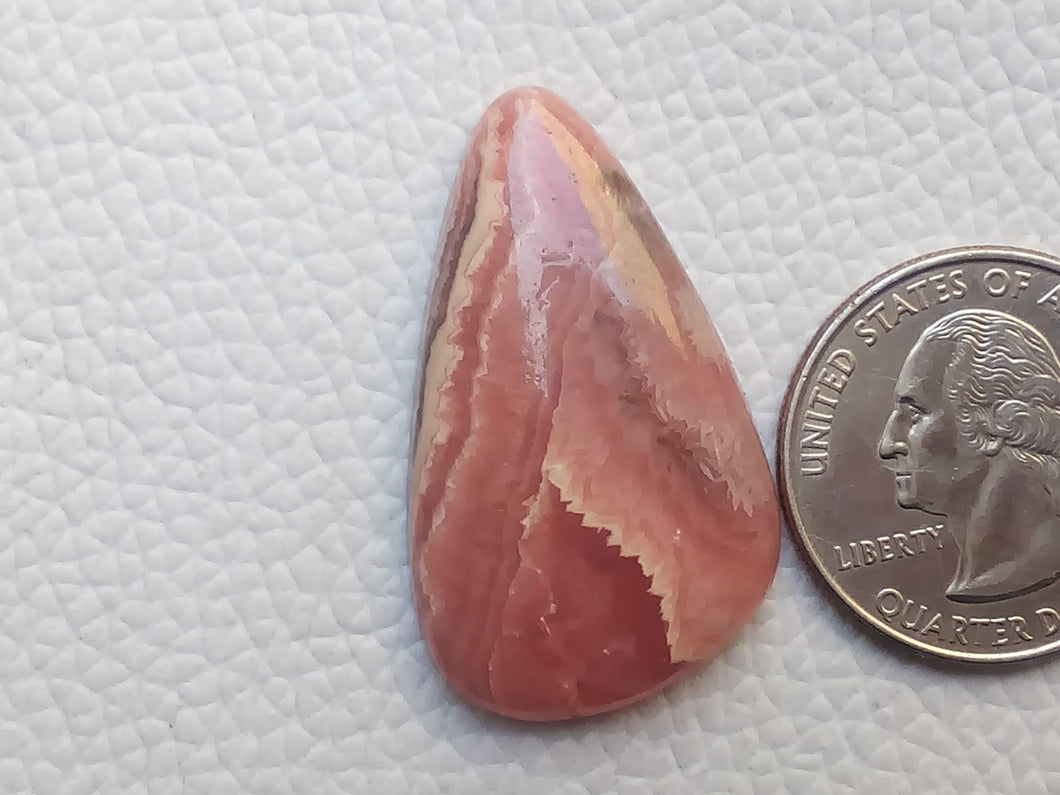 36x21x6 mm Natural Rhodochrosite Freeform Shape