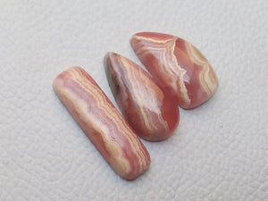 3 Pcs Natural Rhodochrosite Mix Shape