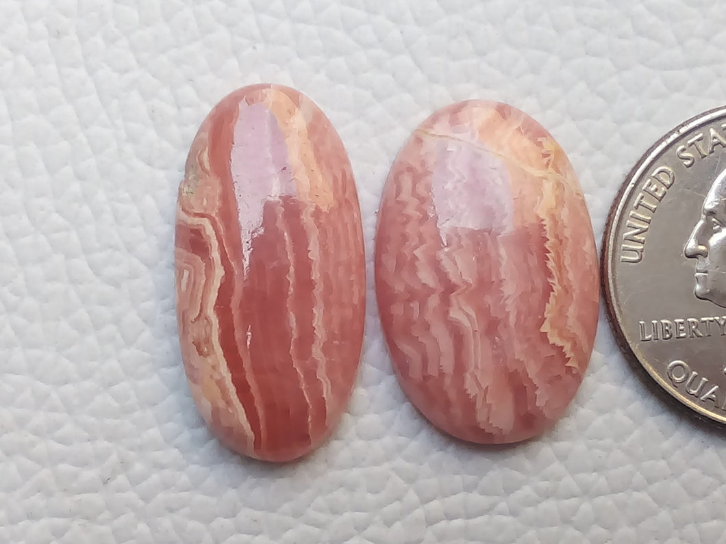 2 Pieces Natural Rhodochrosite Mix Shape