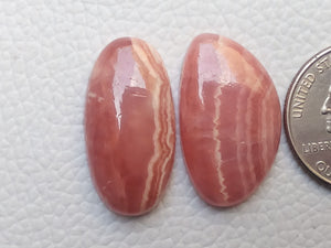 2 Pcs Natural Rhodochrosite Mix Shape
