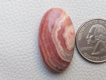 Load image into Gallery viewer, 34x20x7 mm Natural Rhodochrosite Oval Shape