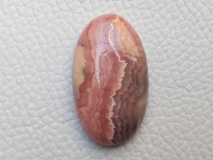 31x18x6 mm Natural Rhodochrosite Oval Shape
