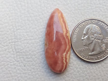 Load image into Gallery viewer, 41x14x6 mm Natural Rhodochrosite Teardrop Shape