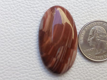 Load image into Gallery viewer, 39x22x6 mm Red Striped Jasper Oval Shape