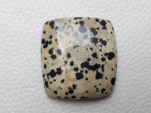 30x28x8 mm Natural Dalmatian Jasper Rectangular Shape