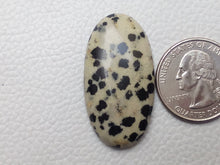 Load image into Gallery viewer, 38x20x7 mm Natural Dalmatian Jasper Oval Shape
