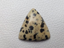 Load image into Gallery viewer, 27x26x6 mm Natural Dalmatian Jasper Triangular Shape