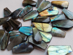Coffin Shape Labradorite Cabochon Lot