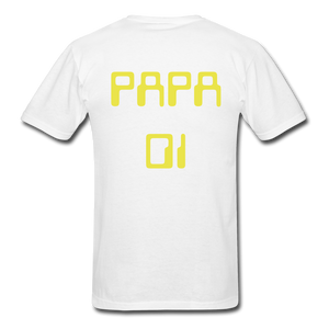 PAPA 01 Men's Basic T-Shirt - white